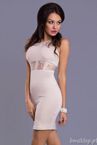 Szyfonowa sukienka z koronkowymi wstawkami... #Sukienki - http://bmsklep.pl/sukienki