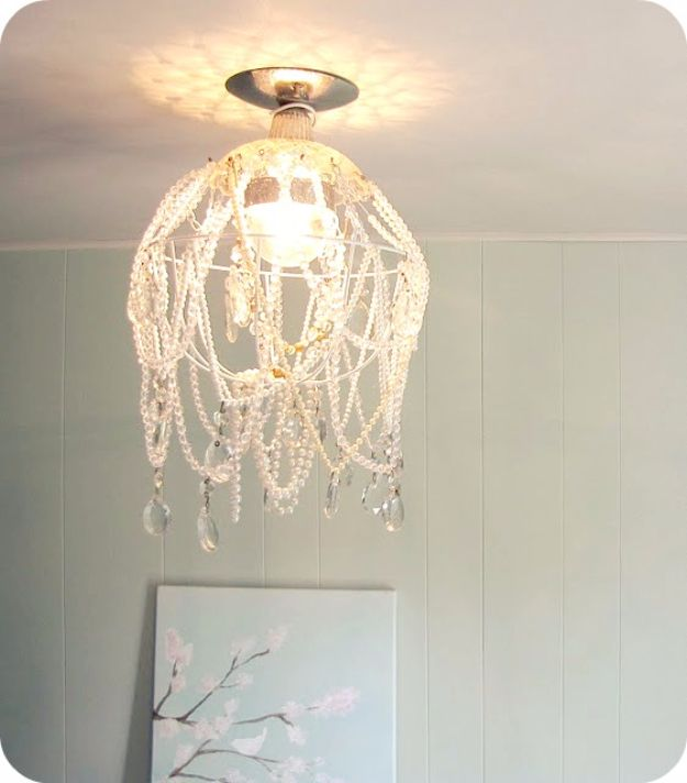 DIY Chandelier Ideas and Project Tutorials - DIY Crystal Chandelier - Easy Makeover Tips, Rustic Pipe, Crystal, Rustic, Mason Jar, Beads. Bedroom, Outdoor and Wedding Girls Room Lighting Ideas With Step by Step Instructions http://diyjoy.com/diy-chandelier-ideas