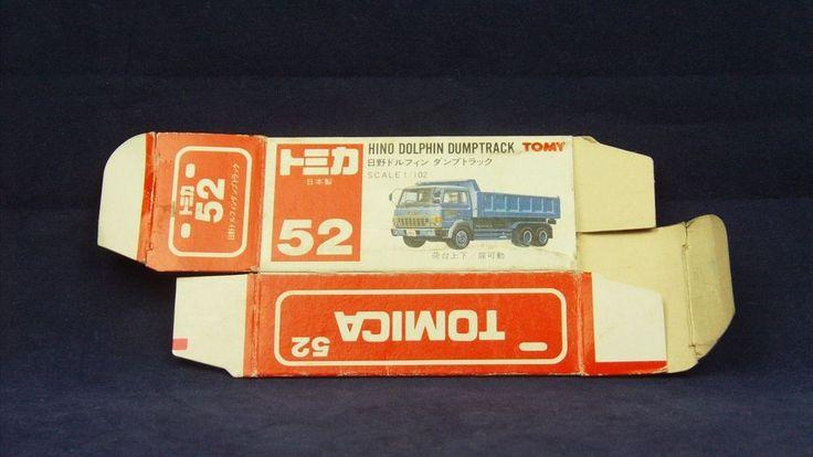 TOMICA 052B HINO DOLPHIN DUMP    1/102   ORIGINAL BOX ONLY   1989-1993 JAPAN