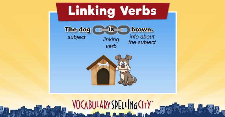 Linking Verbs Teaching Resources. Linking verbs word lists and learning games. #sponsored #VSCVIP