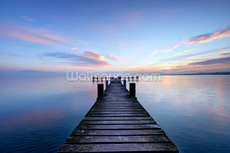 Calm Jetty View wall mural