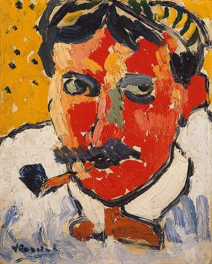 Maurice de Vlaminck: Andre Derain (1999.363.83)   Heilbrunn Timeline of Art History   The Metropolitan Museum of Art    Having acquired the mask from Vlaminck, Derain showed the mask to Matisse and Picasso.
