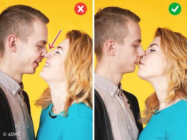 Поцелуй. Фото9.   Идеальный момент — за секунду до поцелуя. Сам поцелуй выходит не так эстетично на фото из-за активной мимики, сплющенных носов. И нередко скорее похож на поедание друг друга.