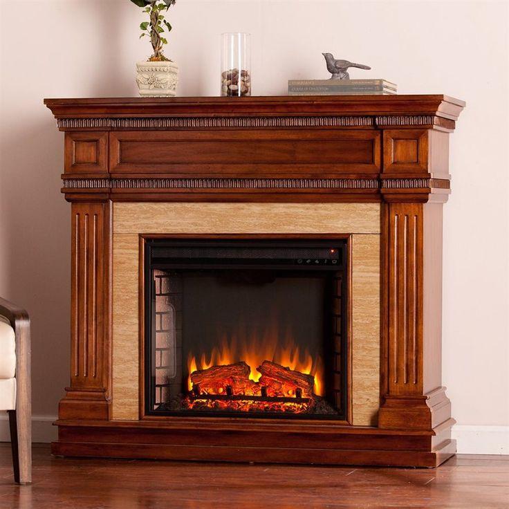 Boston loft furnishings 455in w 5000btu oak saddle mdf