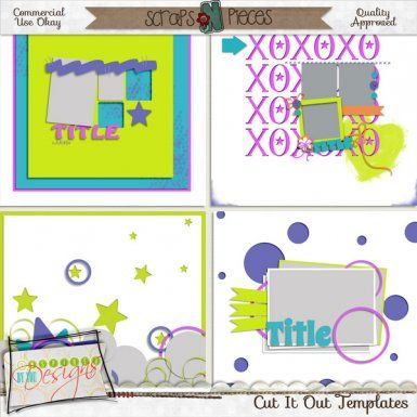 Cut It Out CU Template Pack [IBYD_CIOtemps] - $3.99 : Scraps N Pieces Store