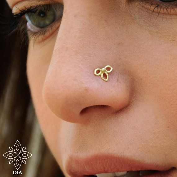 Tragus Stud Nose Ring Stud Wishbone Stud Piercing Jewelry Hex Stud Indian Nose Screw Cartilage Stud Gold Nose Stud Small Nose Stud