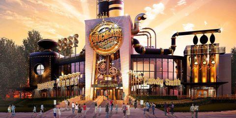 Universal Studios Building Toothsome Chocolate Factory in CityWalk Orlando