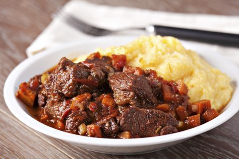 Cinghiale in Dolceforte (Tuscan Wild Boar Stew ) - Traditional Tuscan wild boar stewed in a rich chocolate sauce