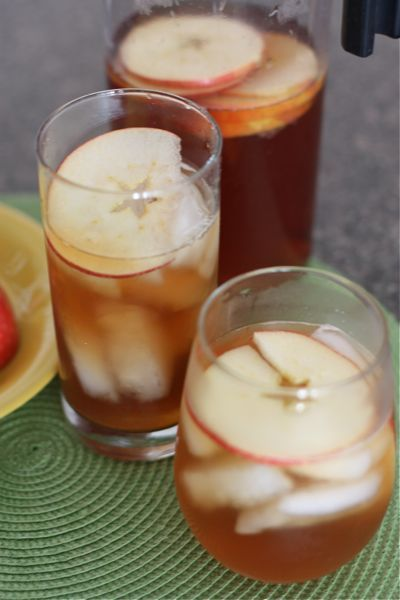 An amazing recipe from the incredible Aggie's Kitchen for some iced Apple Cinnamon Tea with real apple and honey! http://www.celestialseasonings.com/products/herbal-teas/cinnamon-apple-spice