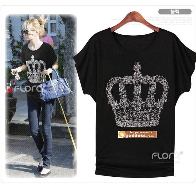 2014 Hot Fashion European And American Style Loose And Comfortable Nail Bead Queen Crown Bead T