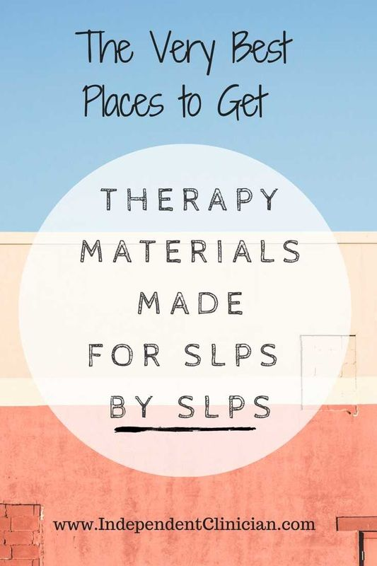 Great list of speech therapy materials made for SLPs BY SLPs! via @IndClinician http://bit.ly/best-slp-materials