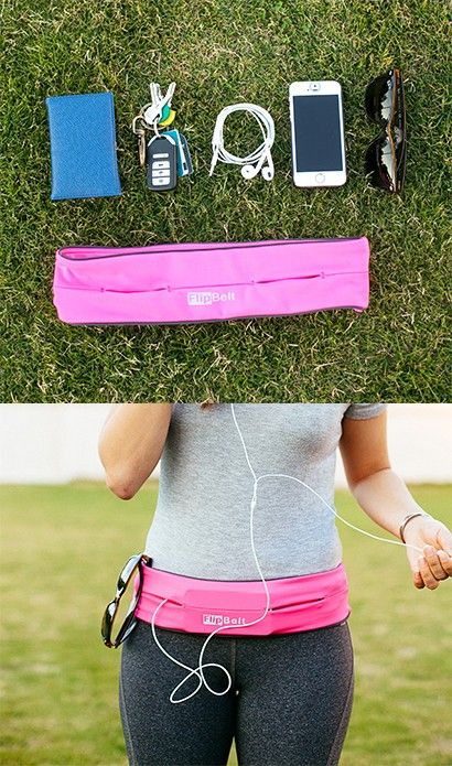 The FlipBelt is a sleek way to keep your belongings with you during a workout.