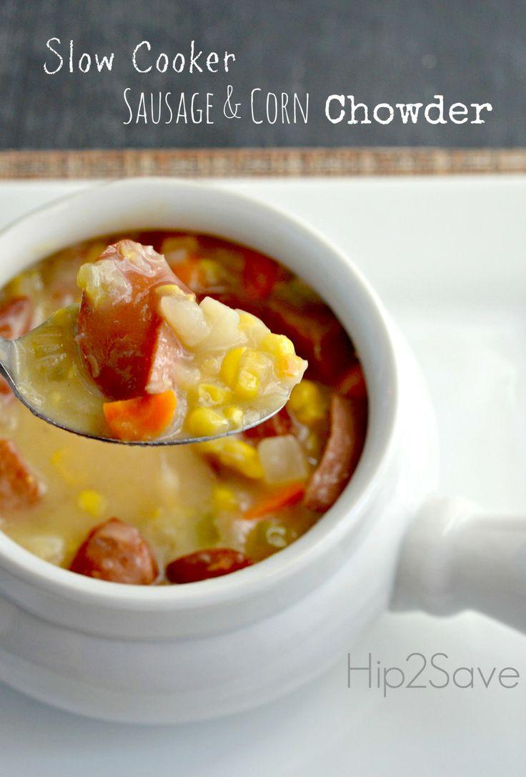 Slow Cooker Sausage & Corn Chowder Recipe – Hip2Save