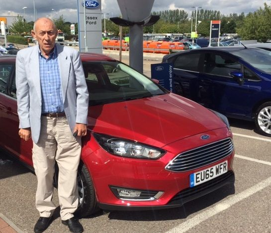 Congratulations to Mr Howe on collecting his brand-new #65Plate Ford Focus Estate from our Rayleigh dealership!