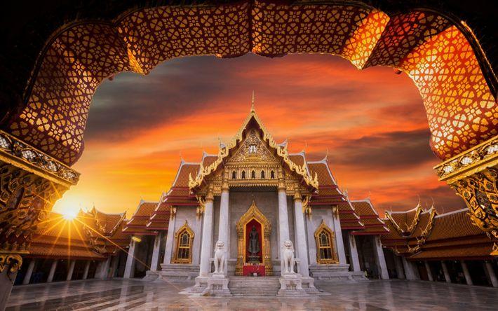 Lataa kuva Buddhalainen temppeli, illalla, Buddhalaisuus, sunset, veistos, patsas