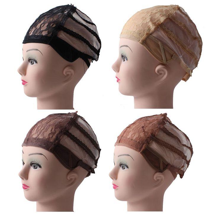 Pas cher 5 pcs/lote perruque Caps pour la fabrication de perruques réglable…