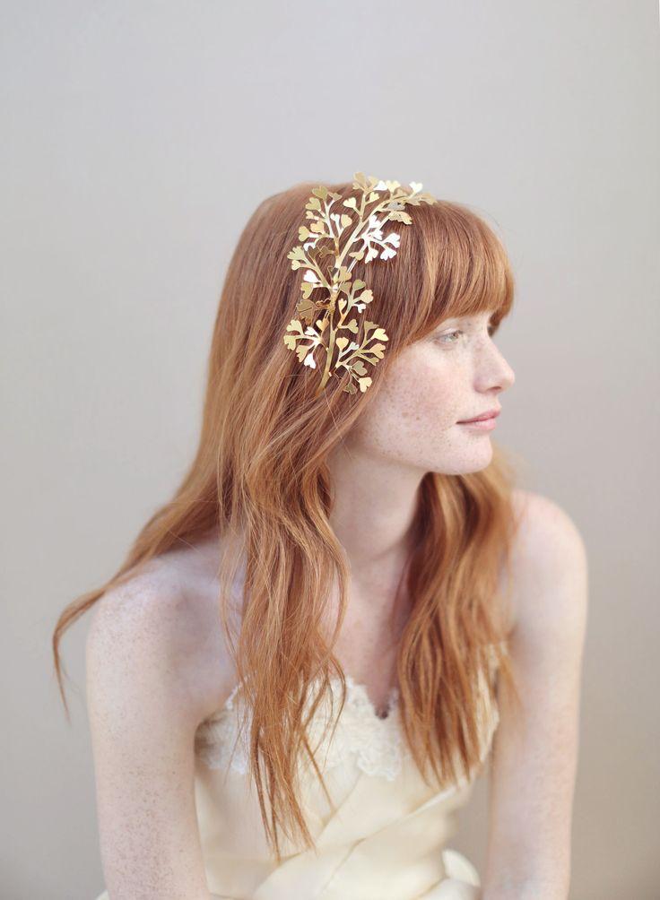 Twigs  Honey fern gilded headband
