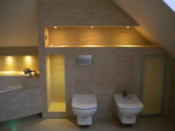Łazienka na poddaszu - aranżacje: Aranżację Łazienki, Przedstawiami Pomysł