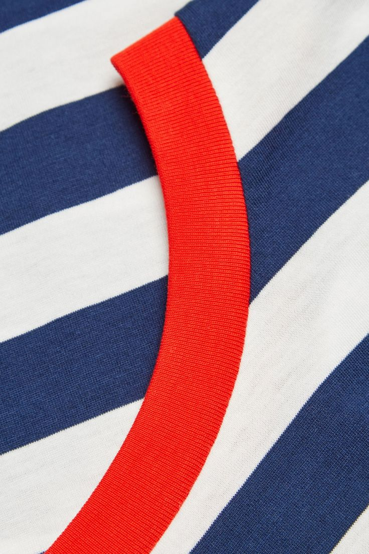 COS image 14 of Relaxed t-shirt in Navy Stripe