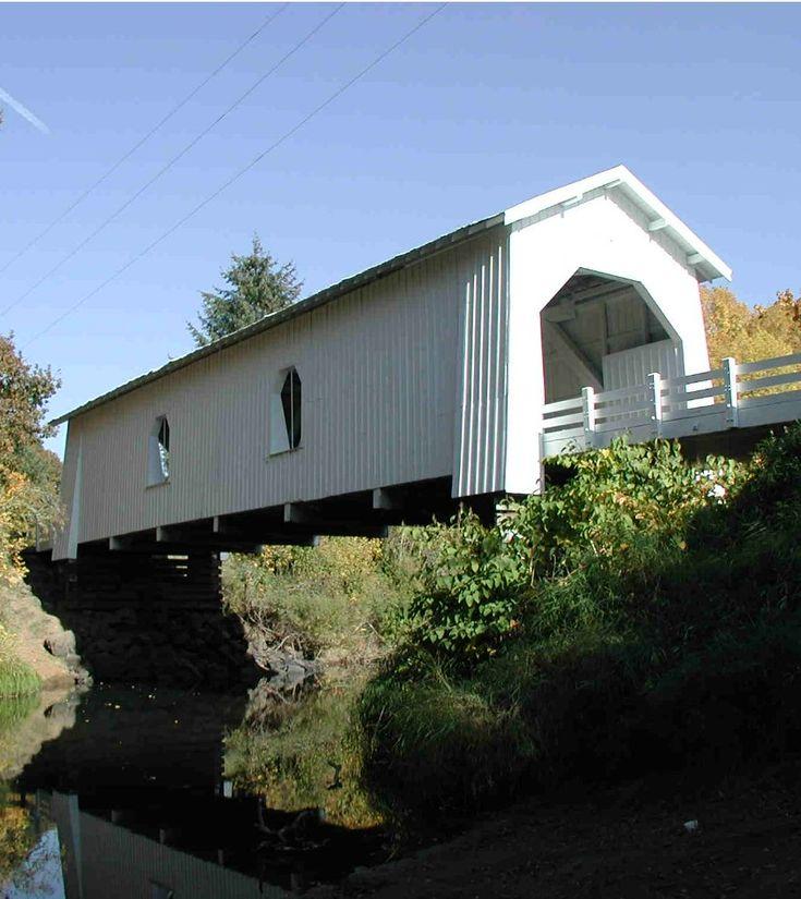 Hoffman Covered Bridge (1936) over Crabtree Creek, Oregon