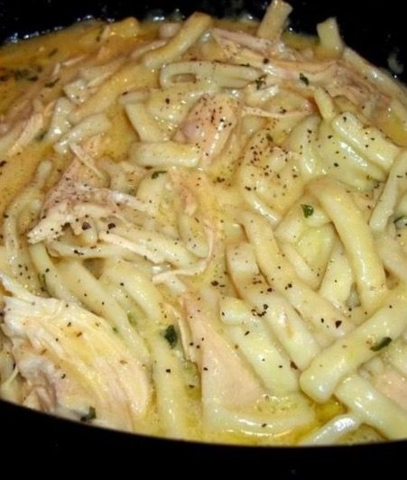 Delicious Crock Pot Chicken and Noodles - Recipe, Satisfying, Family, Kid Friendly, Main Dish, Meal Ideas