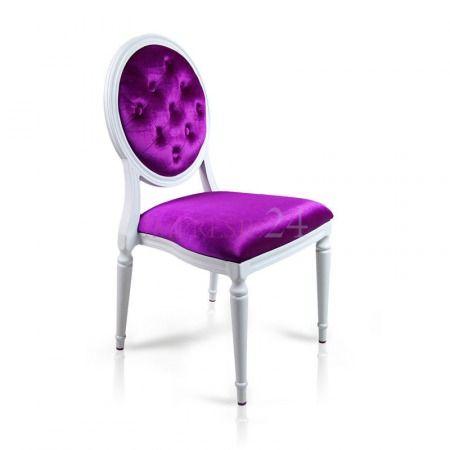 Piękne, luksusowe krzesło | Beautiful, luxury chair #piękne #luksusowe #fioletowe #krzesło #salon #sypialnia #wystrój #wnętrza #beautiful #luxury #purple #chair #living_room #bedroom #interior
