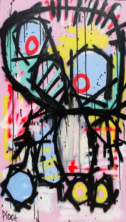 10 best Olivier Pioch images on Pinterest Outsider art, Acrylics - peinture en bombe pour bois