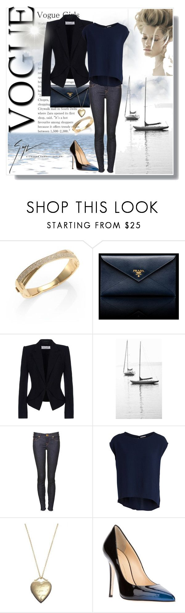 Midnight Blue by pmcdl on Polyvore featuring Pieces, Viktor & Rolf, True Religion, Giuseppe Zanotti, Prada, Michael Kors, Crislu, Andres Sarda, GiuseppeZanotti and casualoutfit