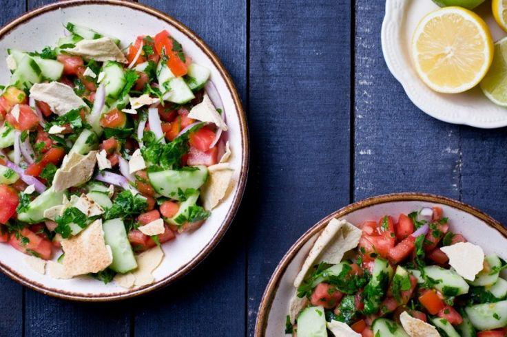 Cuisinez libanais...avec la salade fatouche maison
