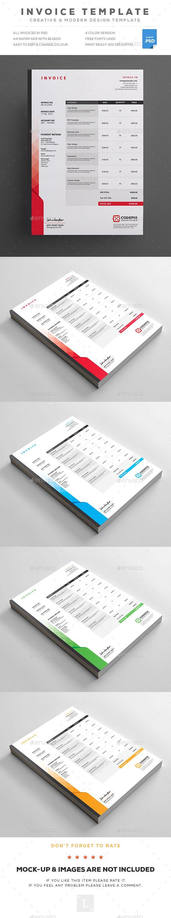 Invoice 1293 best Invoice u0026 Proposal Template