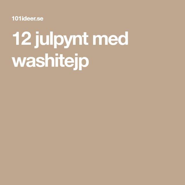 12 julpynt med washitejp