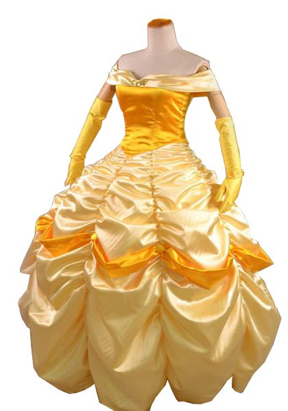 Princess Belle Evening Gown Yellow Dress For Adults and Girls