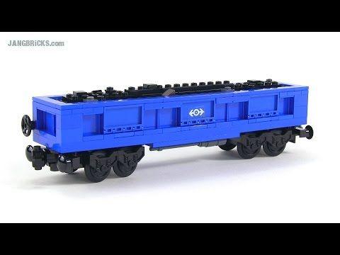 LEGO train gondola car - custom MOC - YouTube