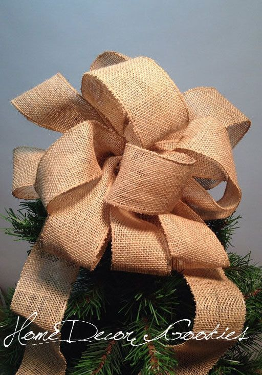 Burlap Christmas tree topper primitive old by Homedecorgoodies