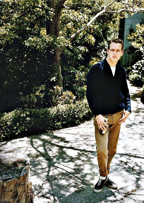 Paul Newman in the '50s and this is how hipsters are dressing today.