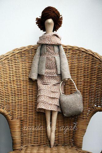 Flickr: made by agah's Photostream So cute! Felt Doll