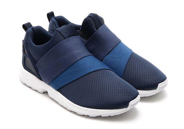adidas ZX Flux Slip On College Navy | SneakerNews.com
