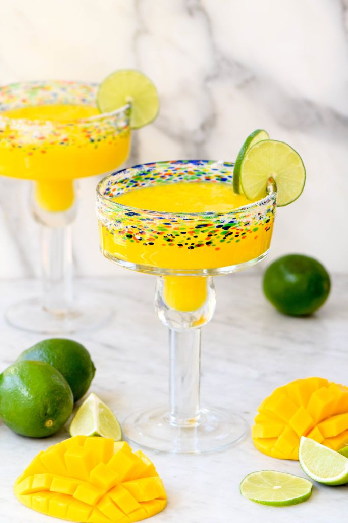 Easy homemade mango margaritas are the perfect cocktail for Cinco de Mayo or summer parties!
