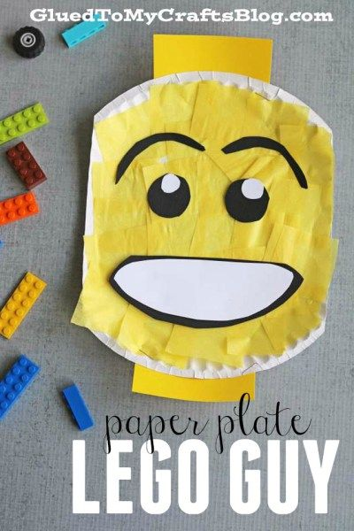Paper Plate Lego Character - Kid Craft