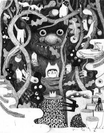Philip Giordano - illustration for Sendak tribute exhibition