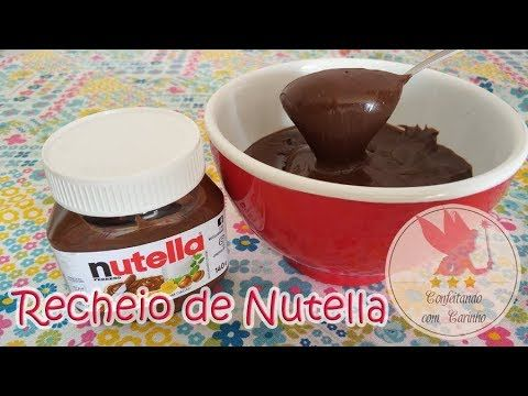 Recheio de Nutella cremoso para bolos - super fácil