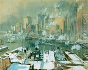 A view of New York City in winter  by Joseph Pennell