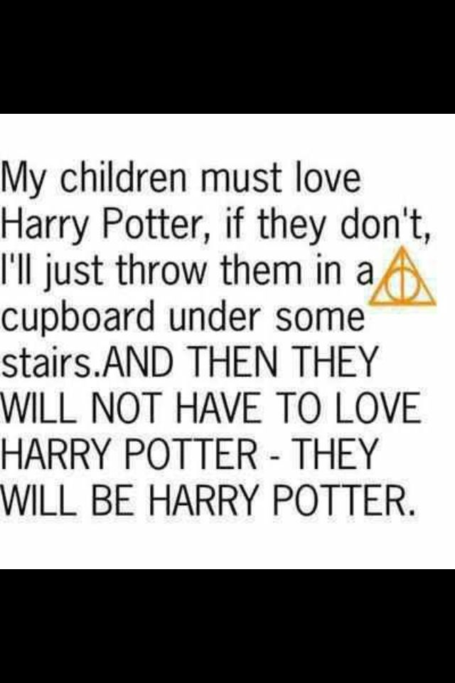 They will BE Harry Potter.
