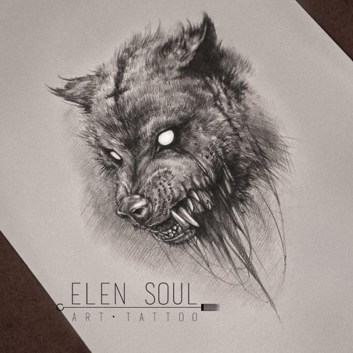 Картинки по запросу блэкворк волк