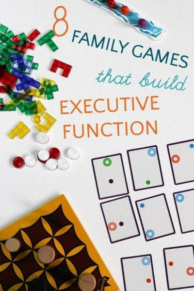 Family games for executive function skill building.