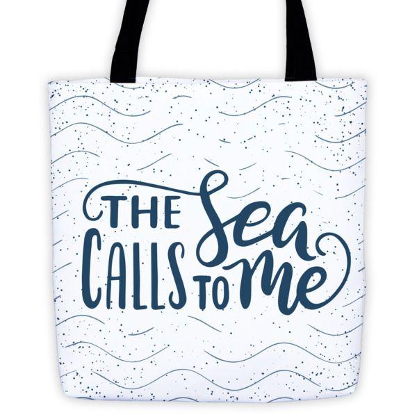 The Sea Calls To Me Tote Bag – Walleye Marine