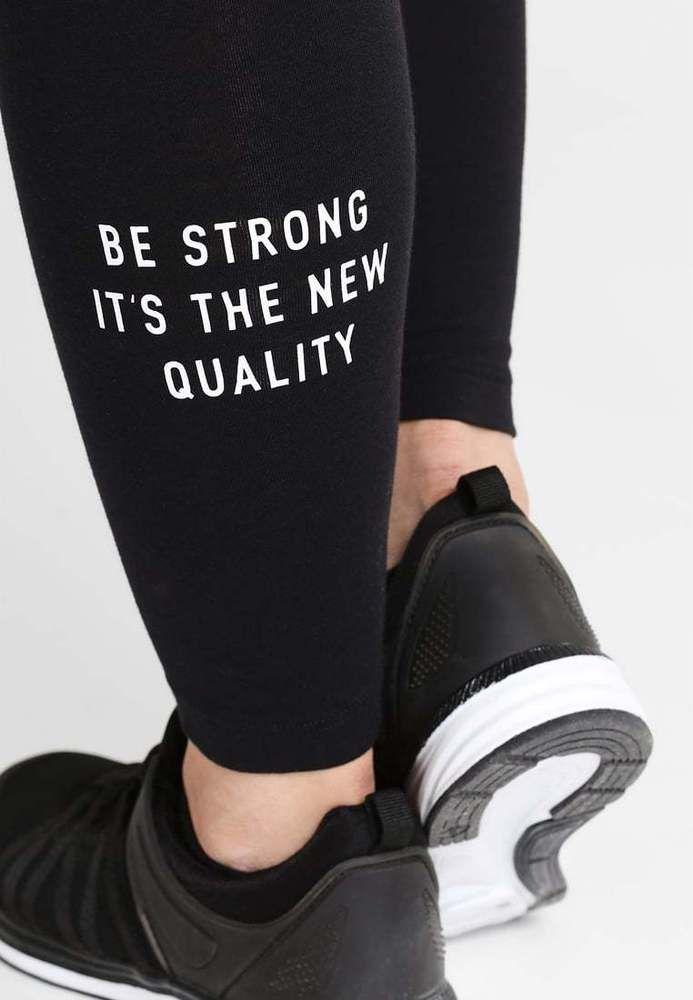 Guess Damen #Leggings Hose Schwarz Piloxing Tights Baumwolle Yoga Fitness Style