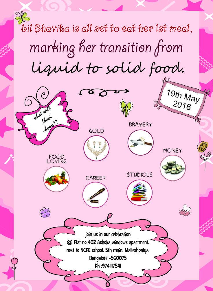 first rice invitation, annaprashan invitation