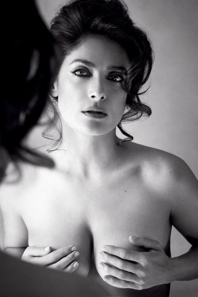 Salma Hayek, 48, Poses Topless for Allure, Says She's Never Had Botox or Anti-Aging Surgery: ''Thank God I Didn't Do That'' Salma Hayek, Allure Magazine