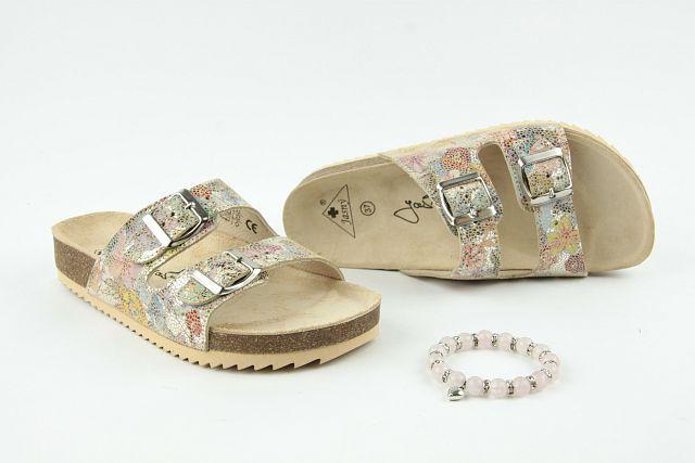 75102eced25 Zdravotní obuv Jasný pantofle 2002 PR2 flowers GOLD 2609